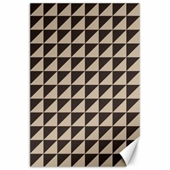 Brown Triangles Background Pattern  Canvas 24  X 36