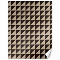 Brown Triangles Background Pattern  Canvas 36  X 48
