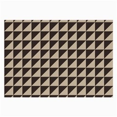 Brown Triangles Background Pattern  Large Glasses Cloth (2 Side)