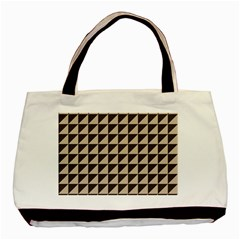 Brown Triangles Background Pattern  Basic Tote Bag (two Sides)