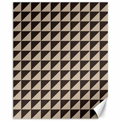 Brown Triangles Background Pattern  Canvas 11  X 14