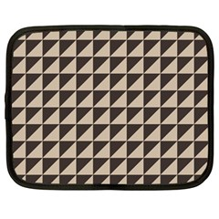 Brown Triangles Background Pattern  Netbook Case (Large)