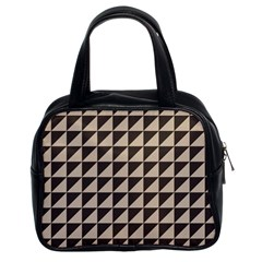 Brown Triangles Background Pattern  Classic Handbags (2 Sides)