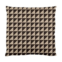Brown Triangles Background Pattern  Standard Cushion Case (one Side)