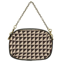 Brown Triangles Background Pattern  Chain Purses (two Sides)