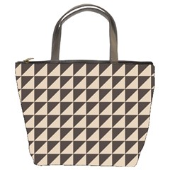 Brown Triangles Background Pattern  Bucket Bags