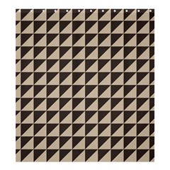 Brown Triangles Background Pattern  Shower Curtain 66  X 72  (large)