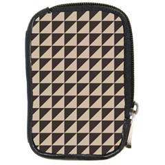 Brown Triangles Background Pattern  Compact Camera Cases