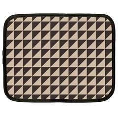 Brown Triangles Background Pattern  Netbook Case (xxl)