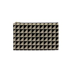 Brown Triangles Background Pattern  Cosmetic Bag (Small)