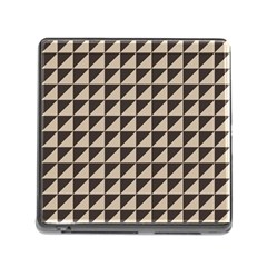 Brown Triangles Background Pattern  Memory Card Reader (square)