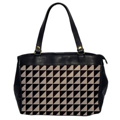 Brown Triangles Background Pattern  Office Handbags
