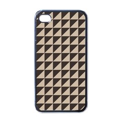 Brown Triangles Background Pattern  Apple Iphone 4 Case (black)
