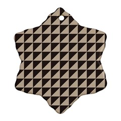 Brown Triangles Background Pattern  Ornament (snowflake)