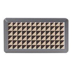 Brown Triangles Background Pattern  Memory Card Reader (mini)