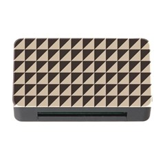 Brown Triangles Background Pattern  Memory Card Reader With Cf
