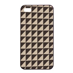 Brown Triangles Background Pattern  Apple Iphone 4/4s Seamless Case (black)