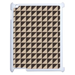 Brown Triangles Background Pattern  Apple Ipad 2 Case (white)