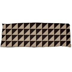 Brown Triangles Background Pattern  Body Pillow Case Dakimakura (two Sides)