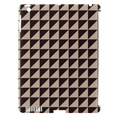 Brown Triangles Background Pattern  Apple Ipad 3/4 Hardshell Case (compatible With Smart Cover)