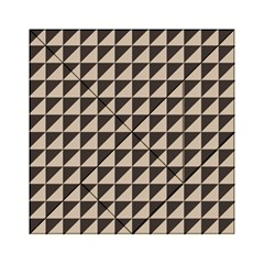 Brown Triangles Background Pattern  Acrylic Tangram Puzzle (6  X 6 )
