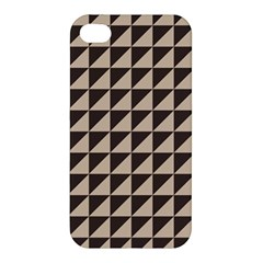 Brown Triangles Background Pattern  Apple Iphone 4/4s Premium Hardshell Case