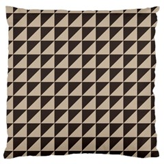 Brown Triangles Background Pattern  Large Cushion Case (one Side)