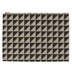 Brown Triangles Background Pattern  Cosmetic Bag (xxl)