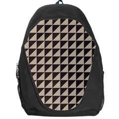 Brown Triangles Background Pattern  Backpack Bag