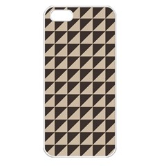 Brown Triangles Background Pattern  Apple Iphone 5 Seamless Case (white)