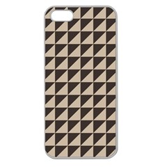 Brown Triangles Background Pattern  Apple Seamless Iphone 5 Case (clear)