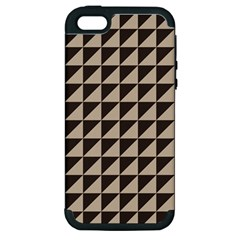 Brown Triangles Background Pattern  Apple Iphone 5 Hardshell Case (pc+silicone)