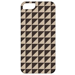 Brown Triangles Background Pattern  Apple Iphone 5 Classic Hardshell Case
