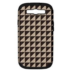 Brown Triangles Background Pattern  Samsung Galaxy S Iii Hardshell Case (pc+silicone)