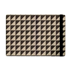 Brown Triangles Background Pattern  Apple Ipad Mini Flip Case