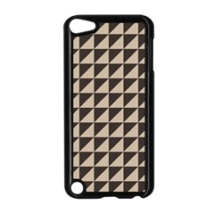 Brown Triangles Background Pattern  Apple Ipod Touch 5 Case (black)