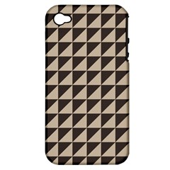 Brown Triangles Background Pattern  Apple Iphone 4/4s Hardshell Case (pc+silicone)