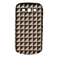 Brown Triangles Background Pattern  Samsung Galaxy S Iii Classic Hardshell Case (pc+silicone)