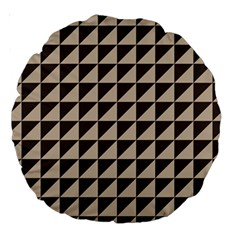 Brown Triangles Background Pattern  Large 18  Premium Round Cushions