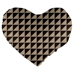 Brown Triangles Background Pattern  Large 19  Premium Heart Shape Cushions
