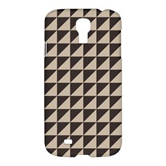 Brown Triangles Background Pattern  Samsung Galaxy S4 I9500/i9505 Hardshell Case