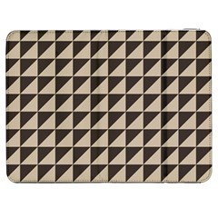 Brown Triangles Background Pattern  Samsung Galaxy Tab 7  P1000 Flip Case
