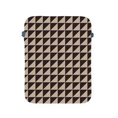 Brown Triangles Background Pattern  Apple Ipad 2/3/4 Protective Soft Cases