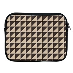 Brown Triangles Background Pattern  Apple Ipad 2/3/4 Zipper Cases