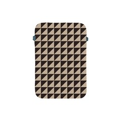 Brown Triangles Background Pattern  Apple Ipad Mini Protective Soft Cases