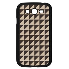 Brown Triangles Background Pattern  Samsung Galaxy Grand Duos I9082 Case (black)