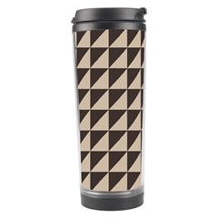 Brown Triangles Background Pattern  Travel Tumbler