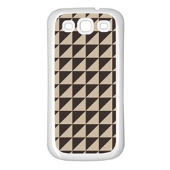 Brown Triangles Background Pattern  Samsung Galaxy S3 Back Case (white)