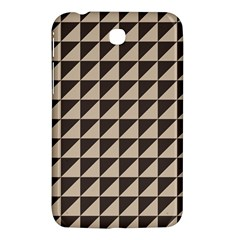 Brown Triangles Background Pattern  Samsung Galaxy Tab 3 (7 ) P3200 Hardshell Case