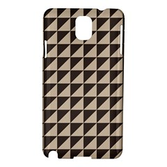 Brown Triangles Background Pattern  Samsung Galaxy Note 3 N9005 Hardshell Case